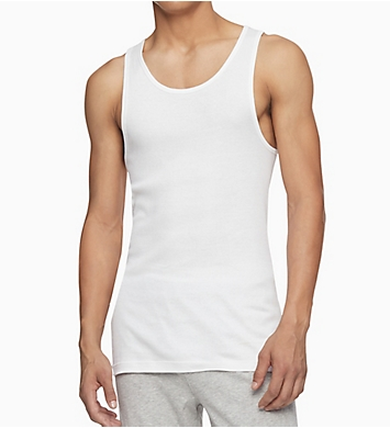 Calvin Klein Cotton Classic Ribbed Tank - 3 Pack