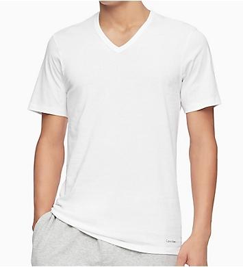 Calvin Klein Cotton Classic Slim Fit V-Neck T-Shirt - 3 Pack