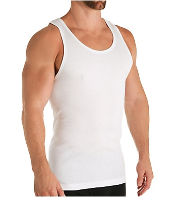Calvin Klein Cotton Classic Ribbed Tank Top - 3 Pack