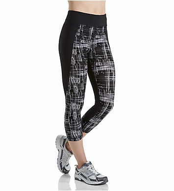 Calvin Klein Performance Print Blocked High Waist Crop Tight