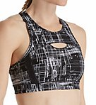 Performance Print Reflective Stripe Sports Bra