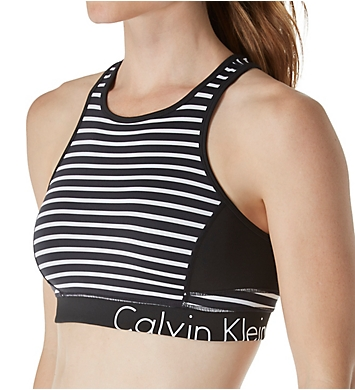 Calvin Klein Performance Stripe Back Keyhole Sports Bra