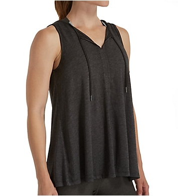 Calvin Klein Performance Icy Wash Tie Front Drapey Tank