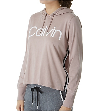 Calvin Klein Logo Long Sleeve Pullover Hoodie