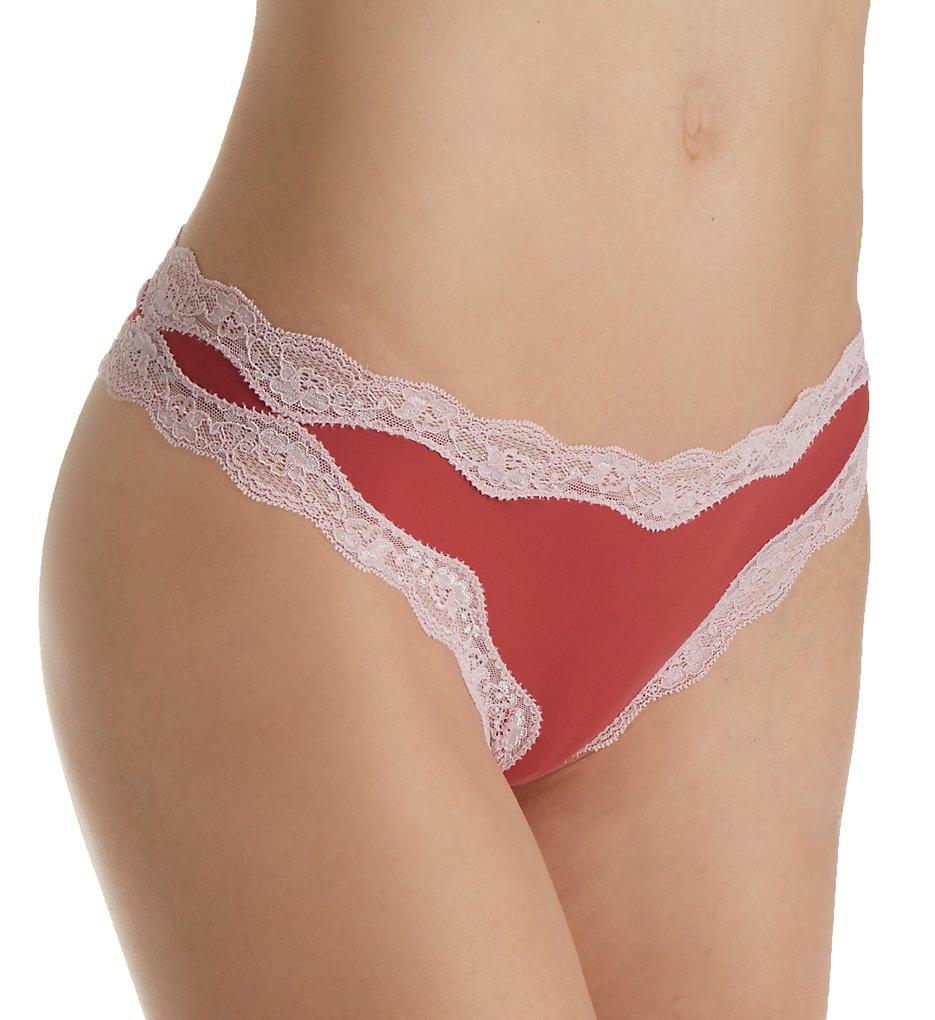 Calvin Klein QD3536 Microfiber Thong With Lace