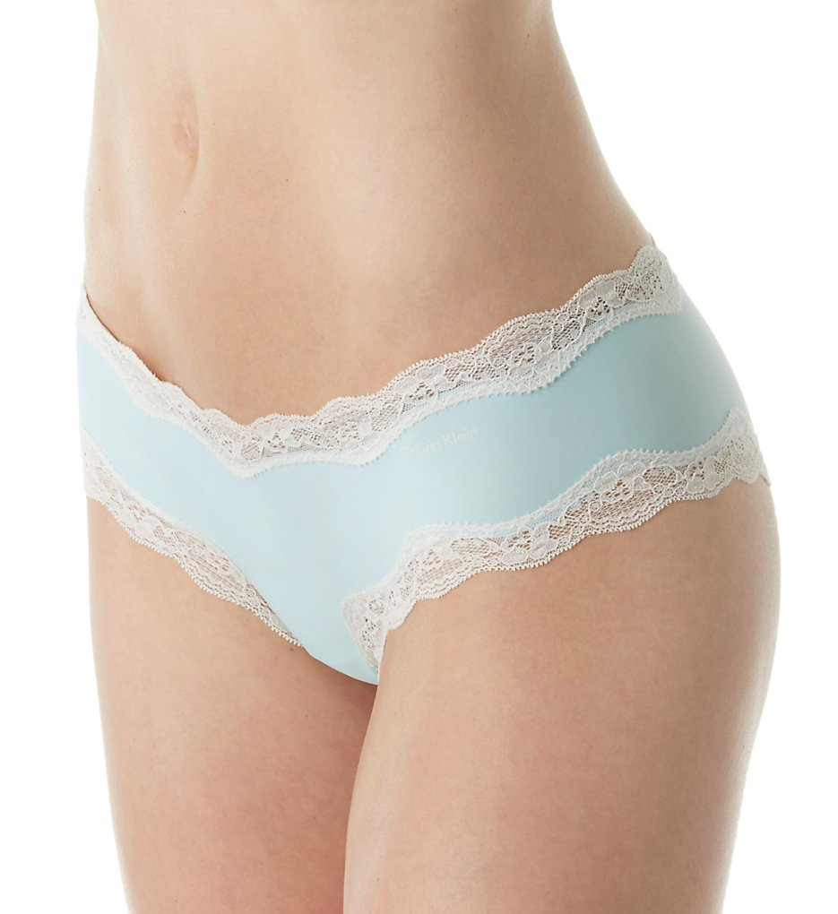 Calvin Klein QD3538 Microfiber Cheeky Hipster Panty with Lace