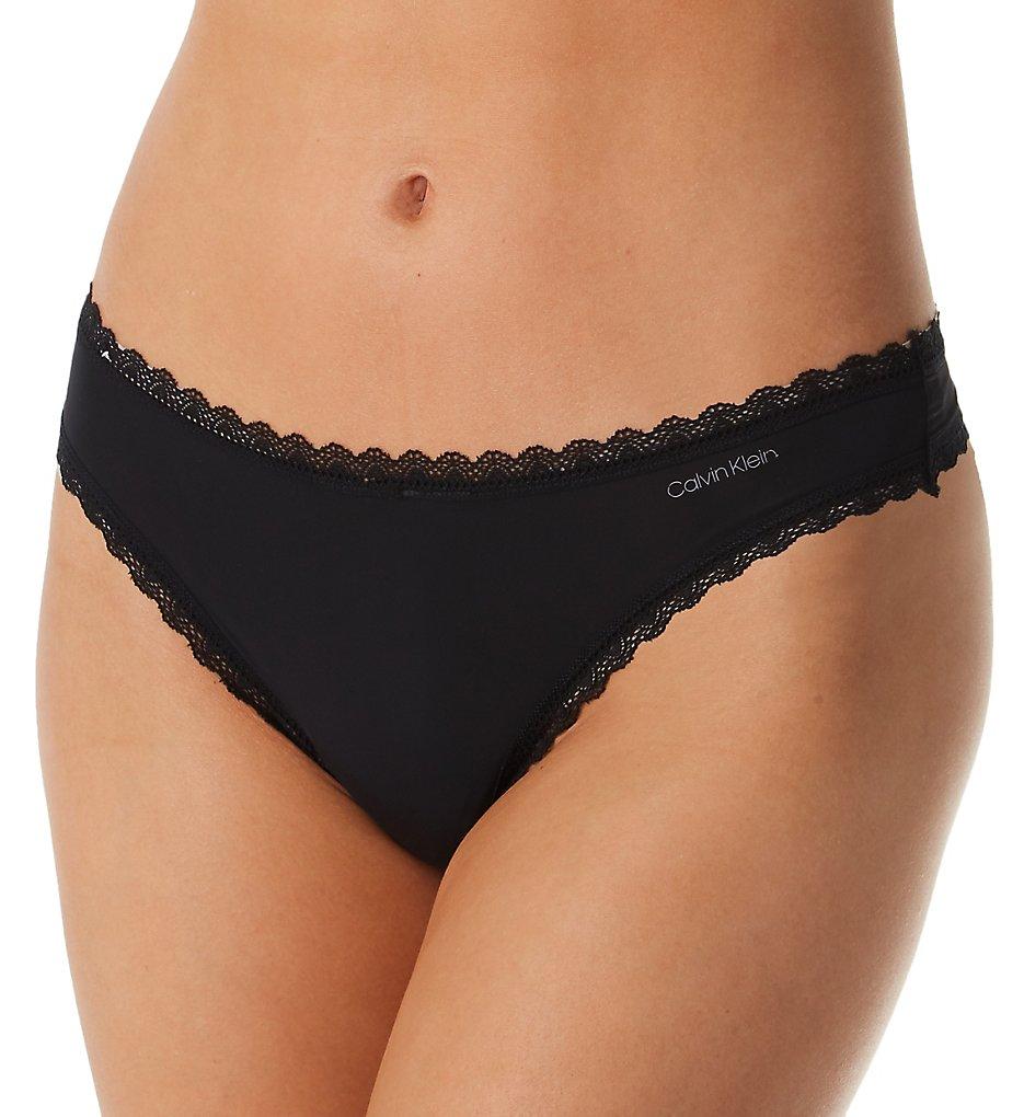 Calvin Klein >> Calvin Klein QD3705 Radiant Lace Thong (Black XS)