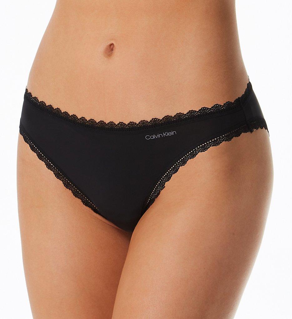 Calvin Klein >> Calvin Klein QD3706 Radiant Lace Bikini Panty (Black XS)