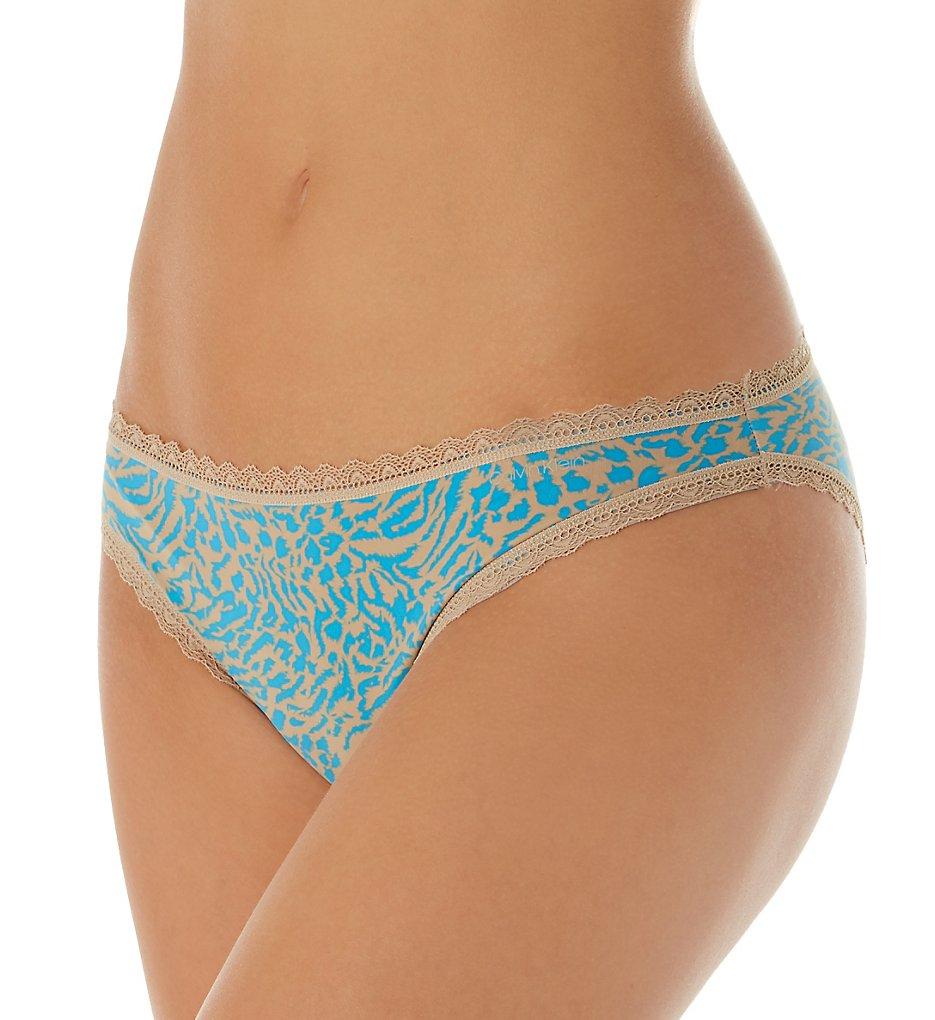 Calvin Klein - Calvin Klein QD3706 Flirt Micro Lace Bikini Panty (Brushed Leopard-Alpaca XS)