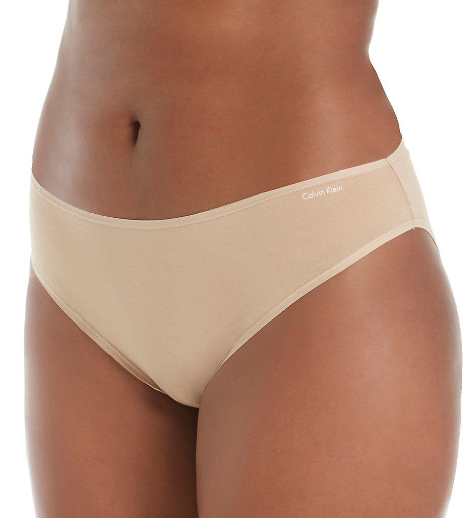 Calvin Klein - Calvin Klein QD3708 Form Plus Size Bikini Panty (Bare 1X)
