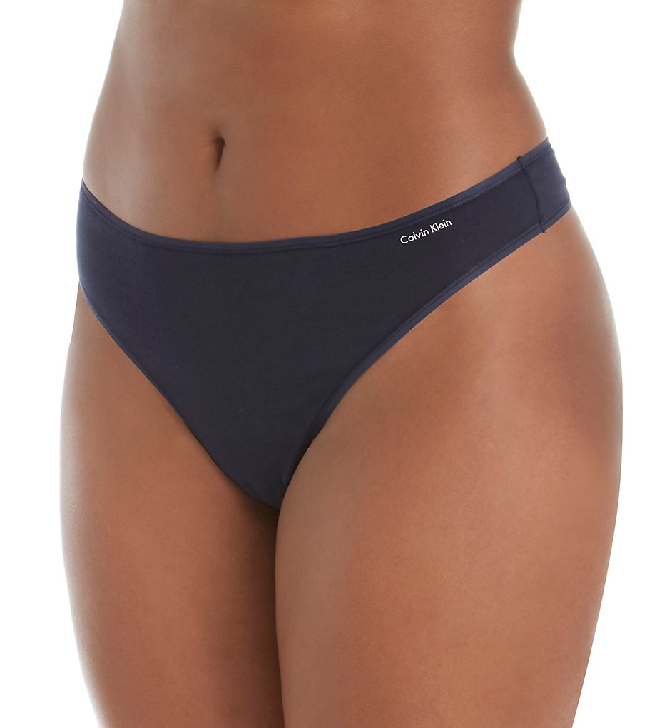 Calvin Klein >> Calvin Klein QD3709 Form Plus Size Thong (Shoreline 3X)