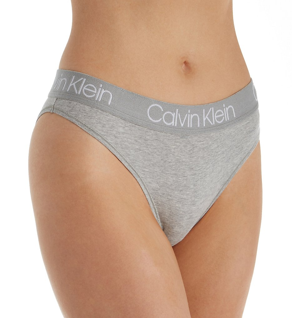 Calvin Klein - Calvin Klein QD3755 Body Cotton High Leg Tanga Panty (Grey Heather S)