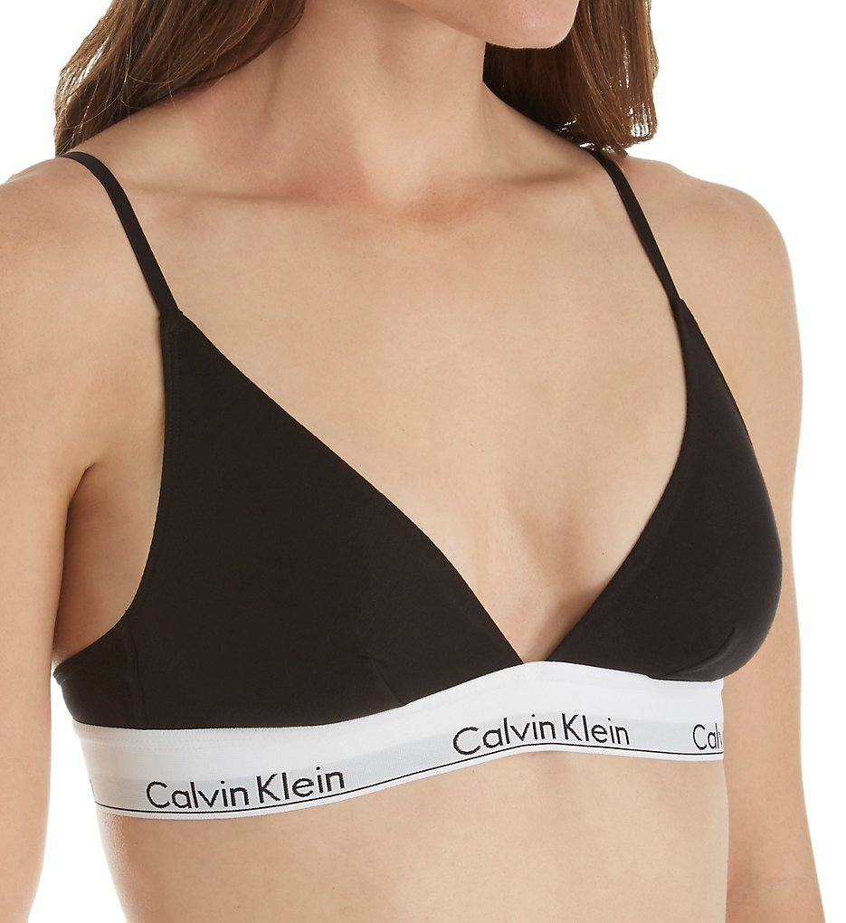 Calvin Klein >> Calvin Klein QF1061 Modern Cotton Unlined Triangle Bra (Black XS)