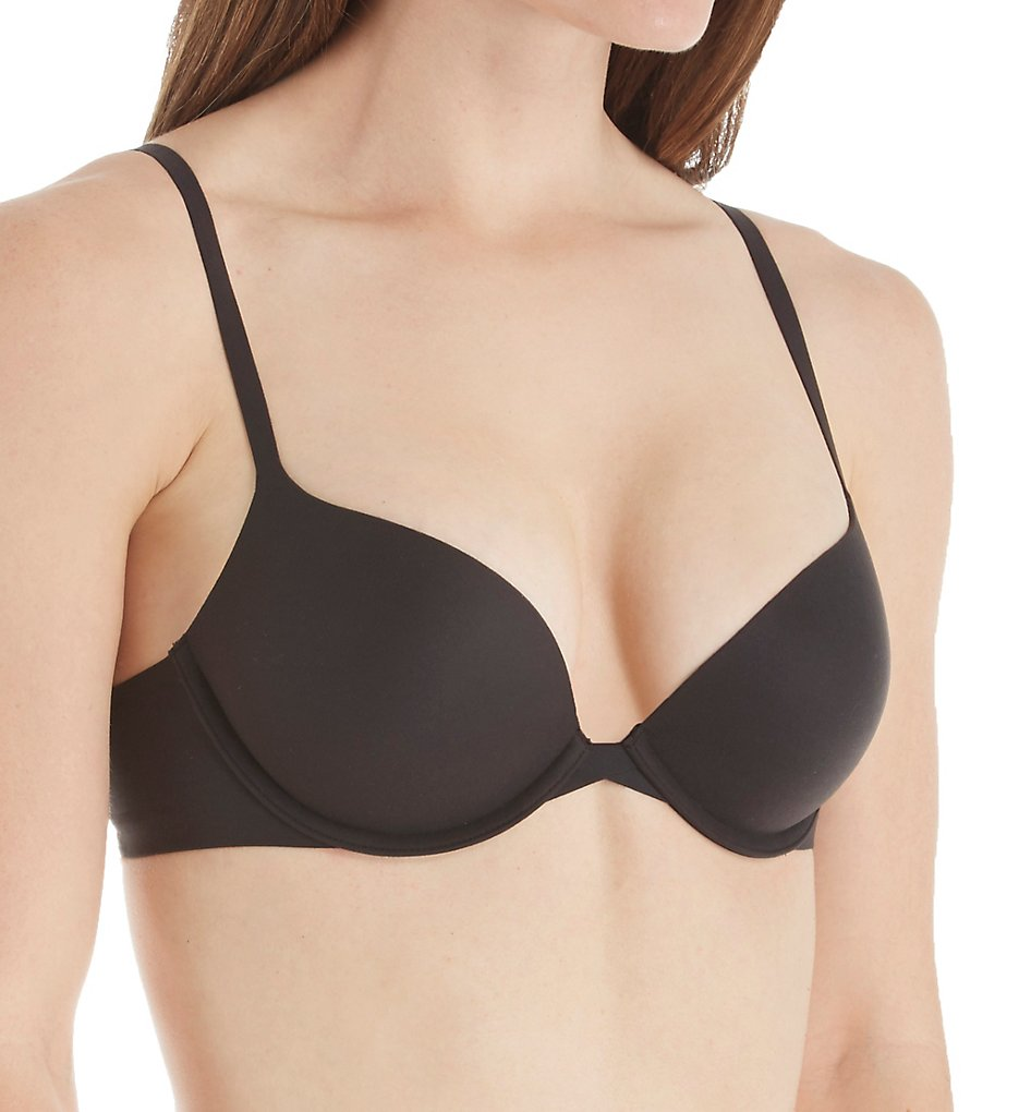 Calvin Klein >> Calvin Klein QF1120 Perfectly Fit Memory Touch Push Up Bra (Black 32A)