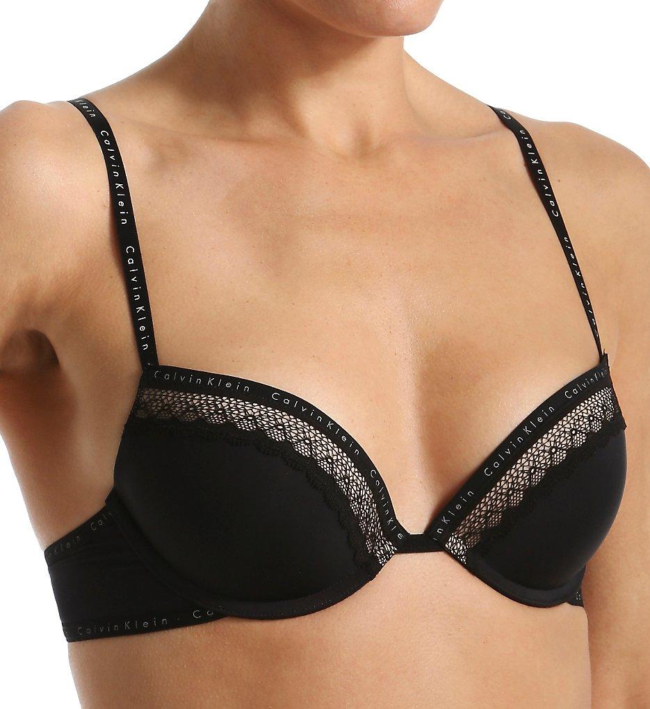 Calvin Klein - Calvin Klein QF1416 Signature Flirty Push Up Bra (Black 36D)