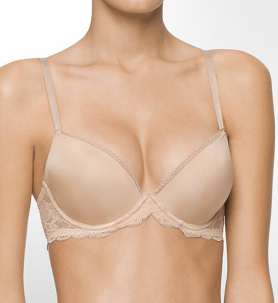 Calvin Klein - Calvin Klein QF1444 Seductive Comfort Lace Demi Lift Multiway Bra (Bare 30C)