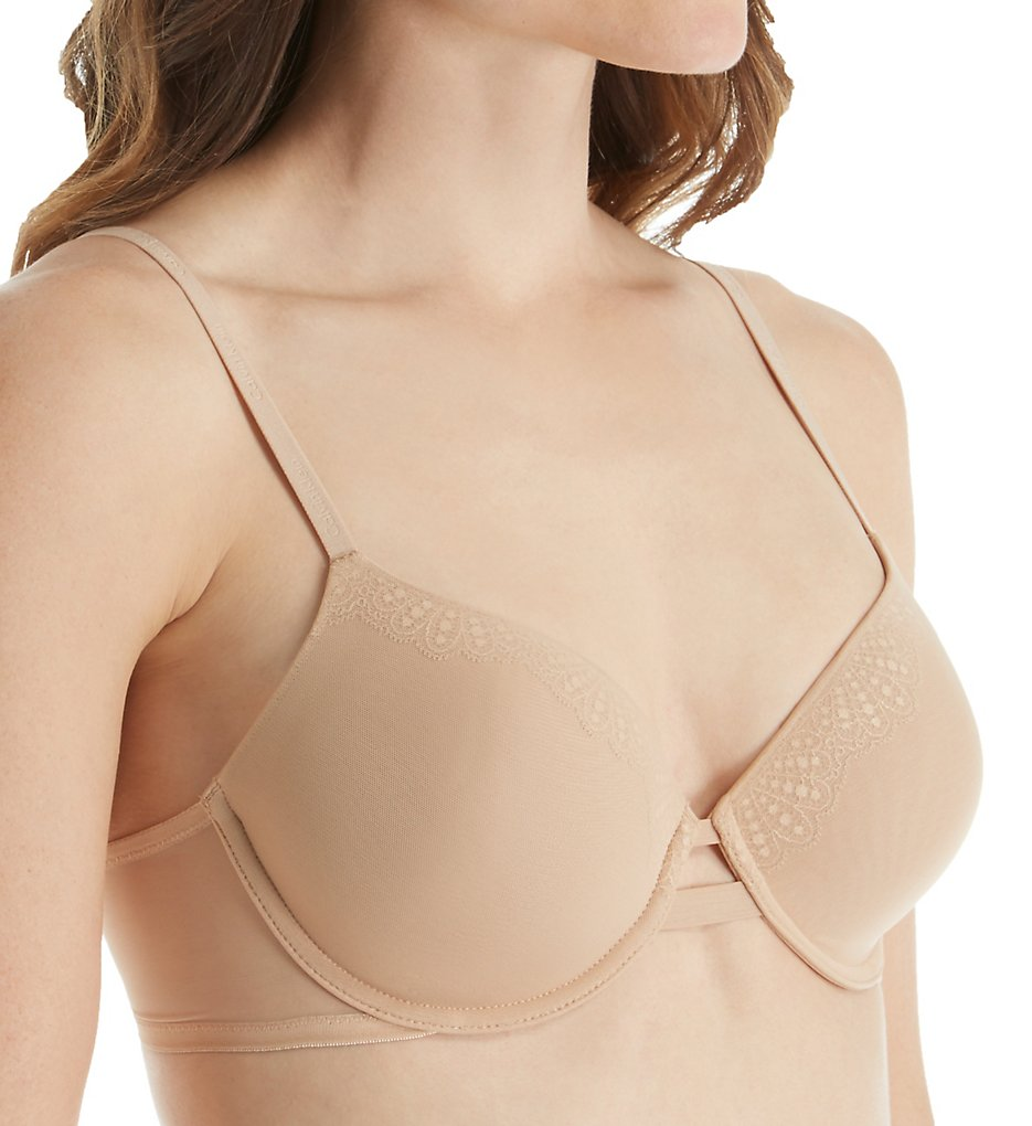 Calvin Klein : Calvin Klein QF1712 Perfectly Fit Mesh Memory Foam Lightly Lined Bra (Bare 38C)