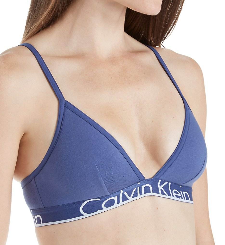 Calvin Klein - Calvin Klein QF1758 Calvin Klein ID Unlined Triangle Bralette (Placid S)