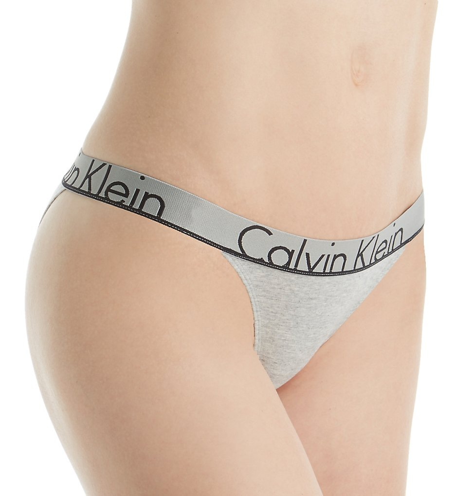 Calvin Klein - Calvin Klein QF1760 Calvin Klein ID Tanga Panty (Grey Heather L)