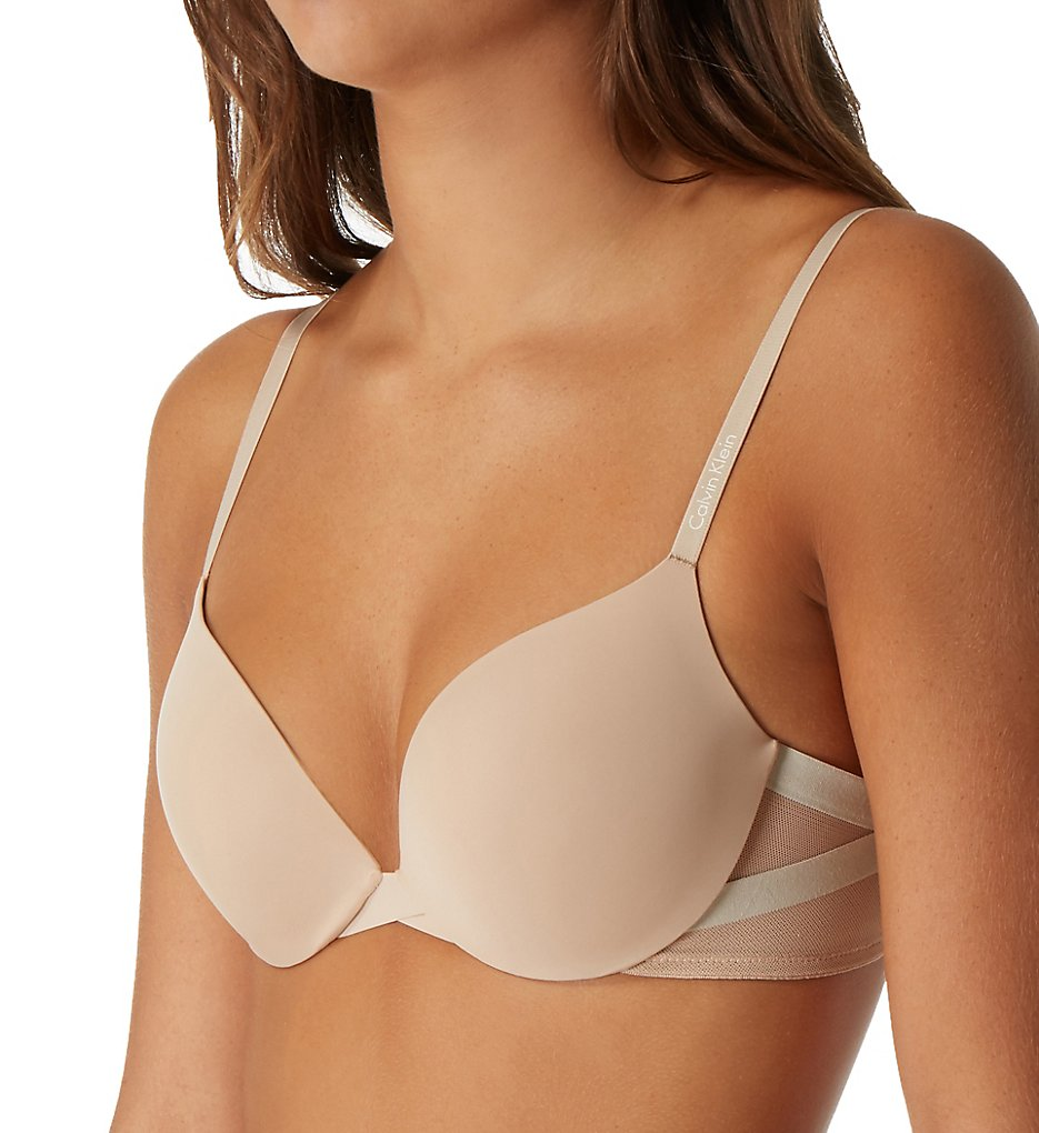 3e846187ef5 Calvin Klein Womens Sculpted Plunge Push up Bra Underwear 36 C Bare. About  this product. Picture 1 of 2  Picture 2 of 2