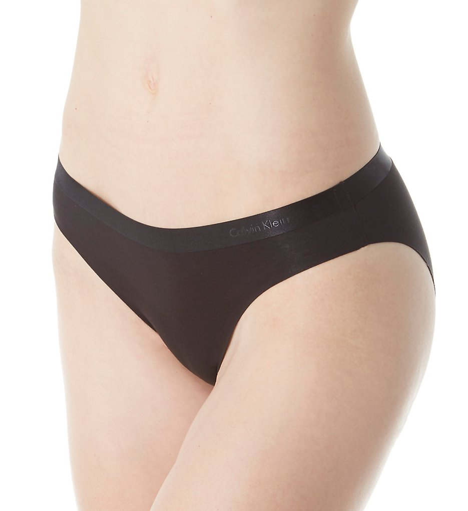 Calvin Klein : Calvin Klein QF1951 CK Black Structured Cotton Bikini Panty (Black S)