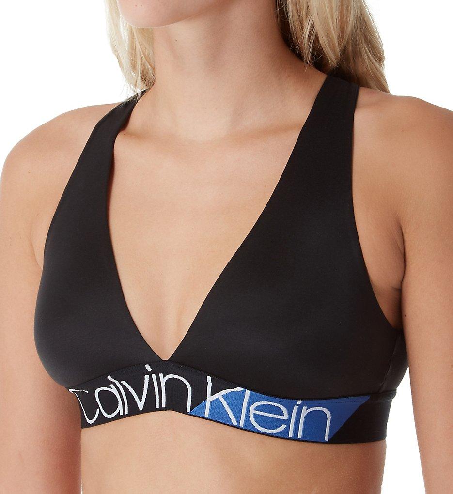 Calvin Klein (2120930) - Calvin Klein QF4935 Bold Accents Unlined Bralette (Black S)