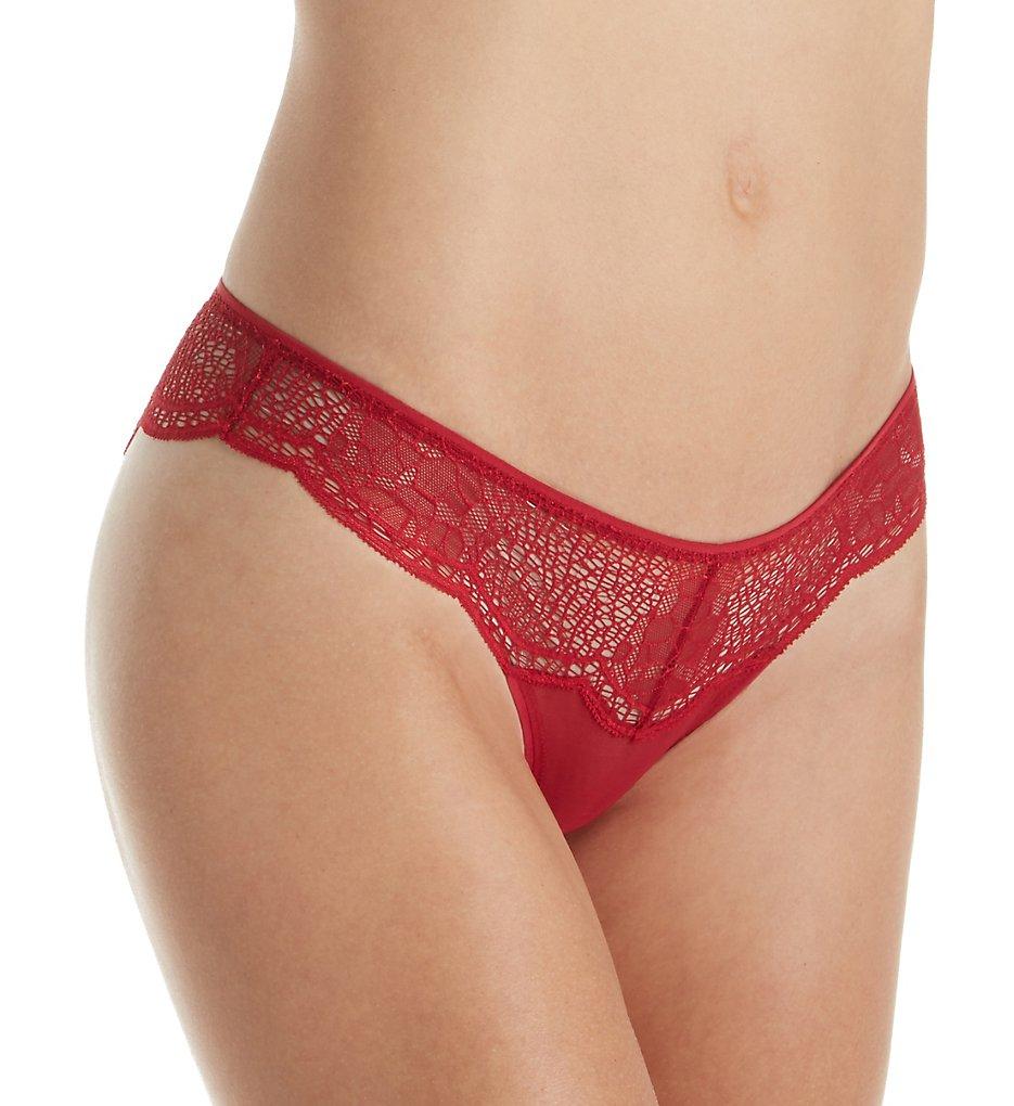 Calvin Klein - Calvin Klein QF4969 CK Crackled Lace Brazilian Panty (Ember Blaze L)