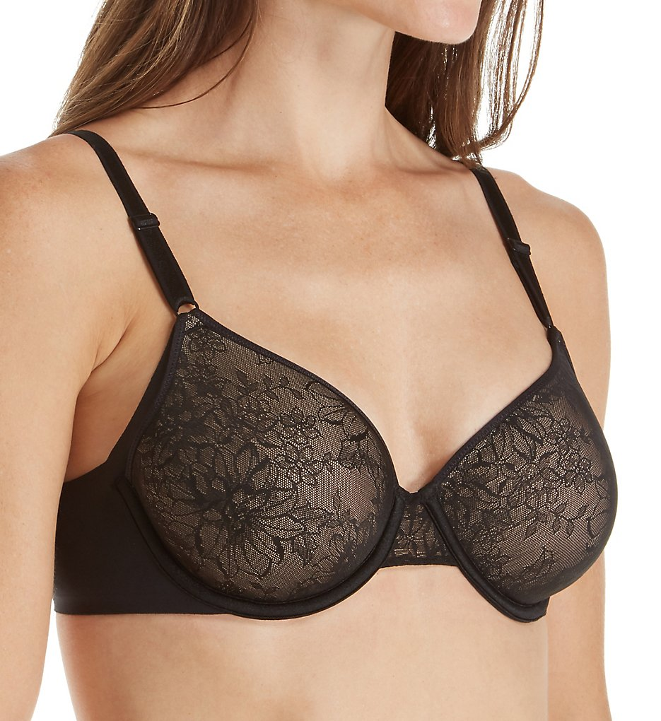 Calvin Klein >> Calvin Klein QF4979 Invisibles Lightly Lined Spacer Bra (Black w/Toasted Almond 34B)