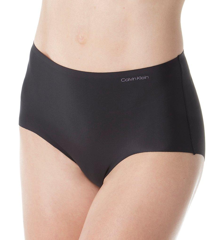 Calvin Klein >> Calvin Klein QF4983 Invisibles High Waist Hipster Panty (Black S)