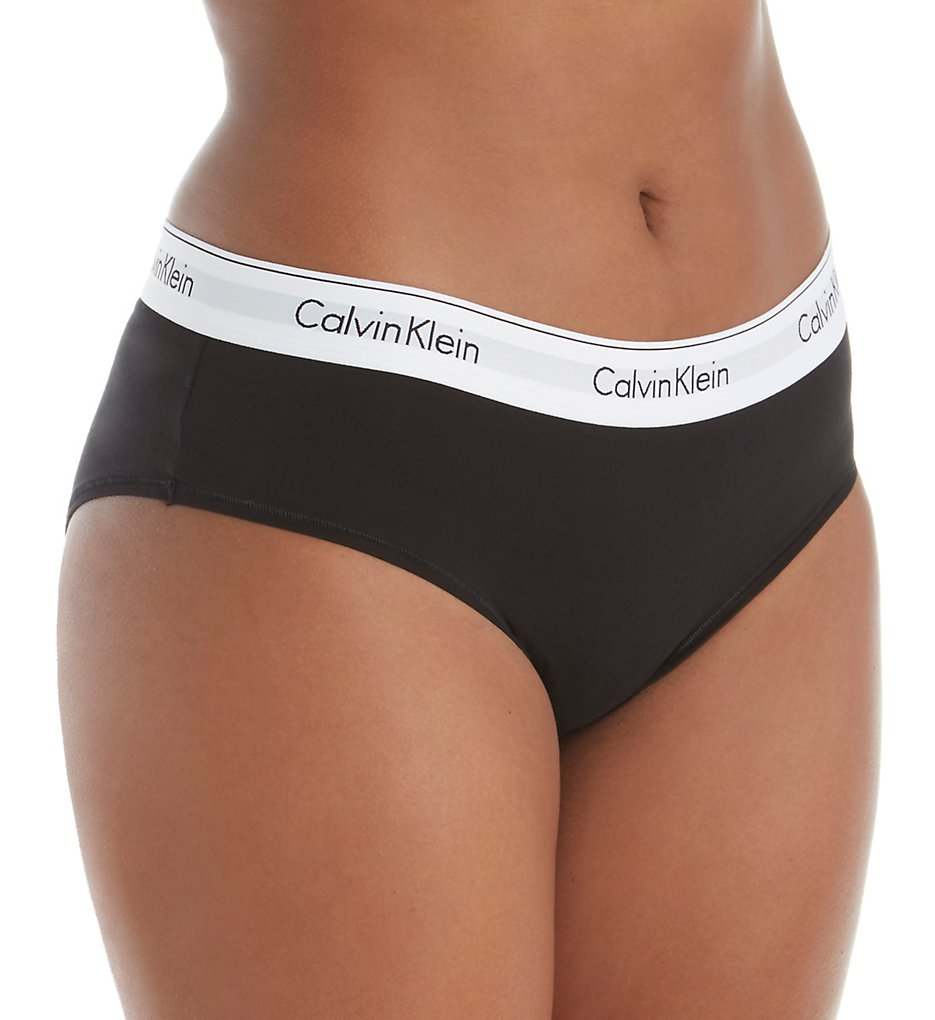 Calvin Klein >> Calvin Klein QF5118 Modern Cotton Plus Size Boyshort Panty (Black 1X)