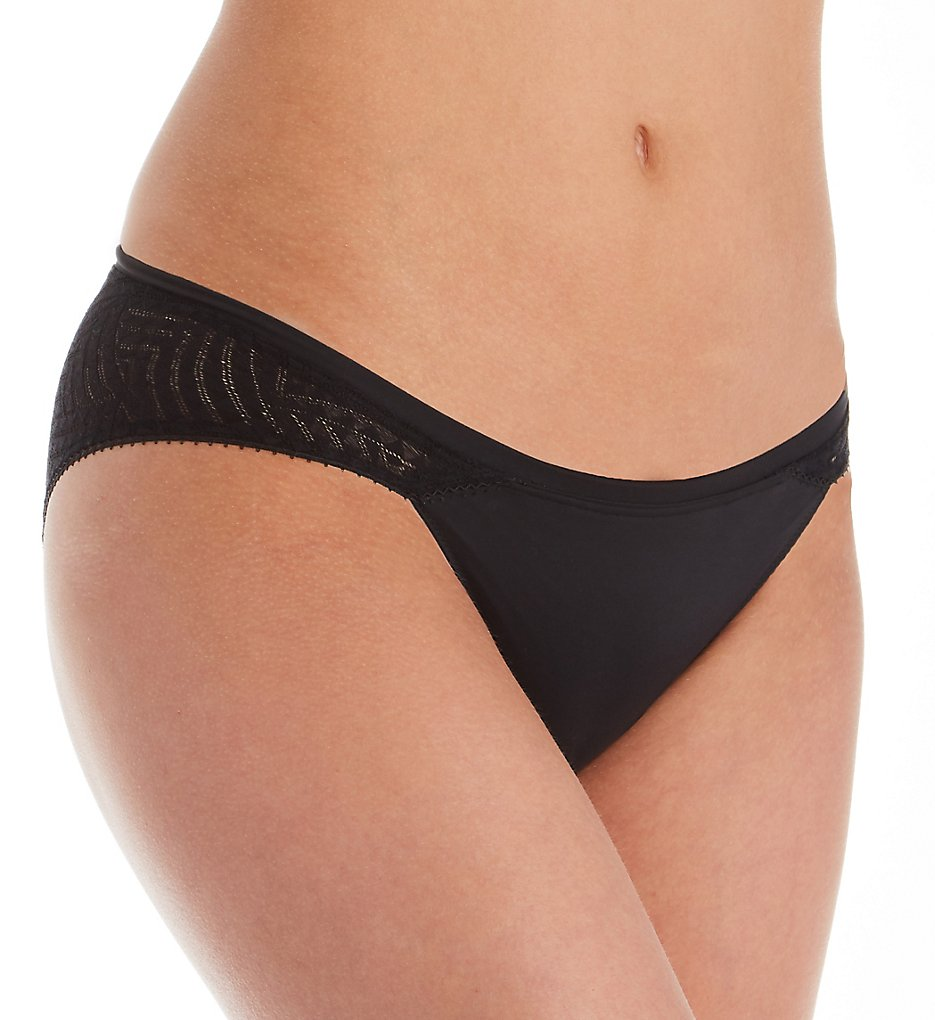 Calvin Klein - Calvin Klein QF5131 Perfectly Fit Geometric Lace Bikini Panty (Black XL)
