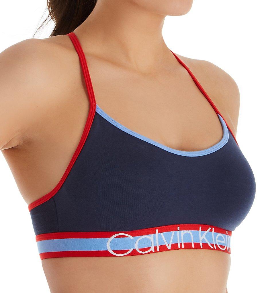 Calvin Klein QF5202 Retro Unlined Bralette (Mood Indigo)