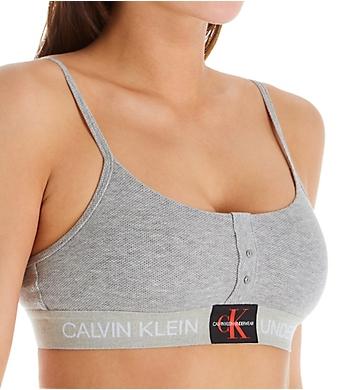 Calvin Klein Monogram Mesh Unlined Bralette