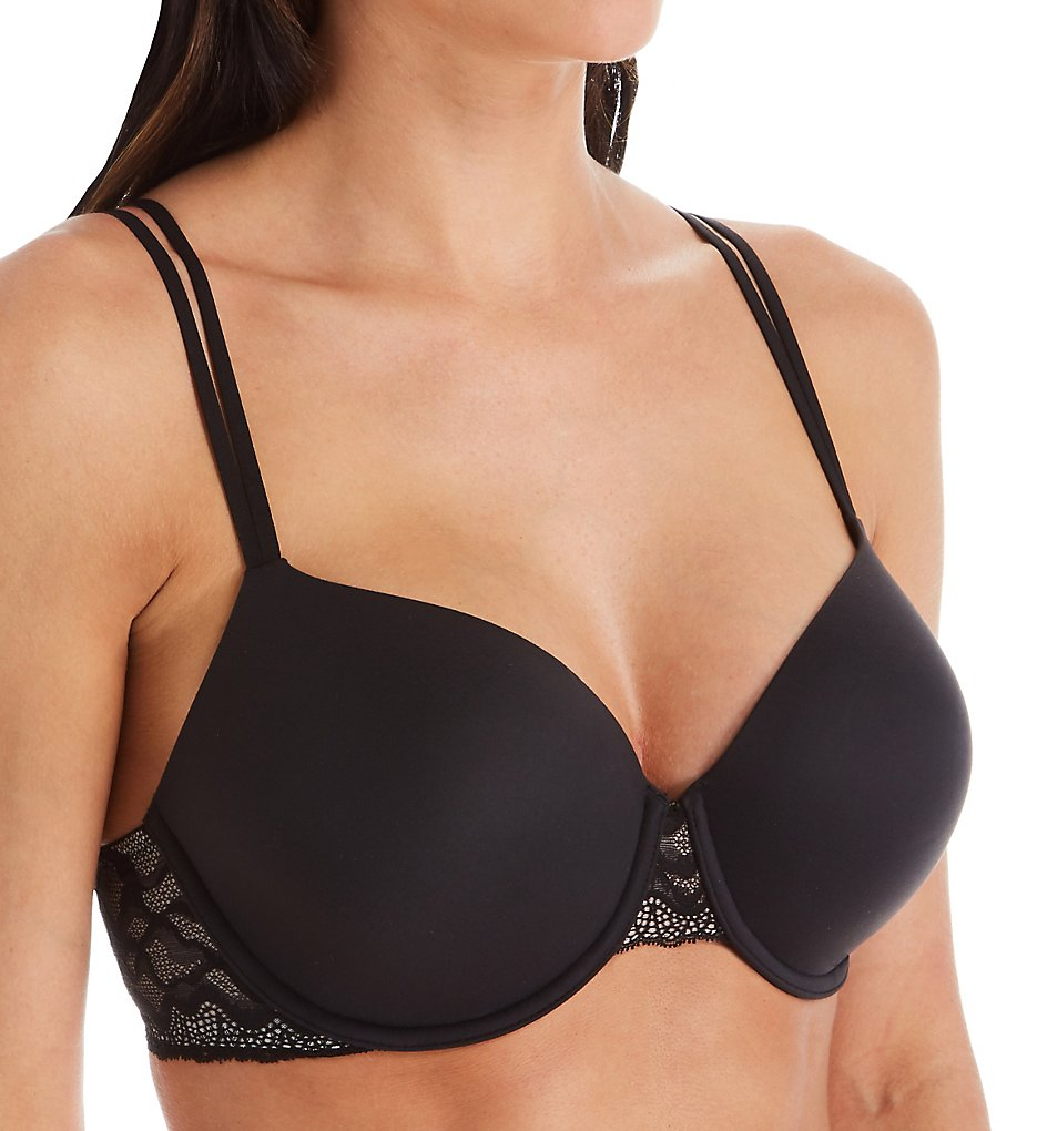 Calvin Klein >> Calvin Klein QF5331 Perfectly Fit Lace Lightly Lined Full Coverage Bra (Black 32A)
