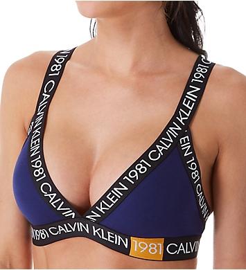 Calvin Klein 1981 Bold Cotton Unlined Triangle Bralette