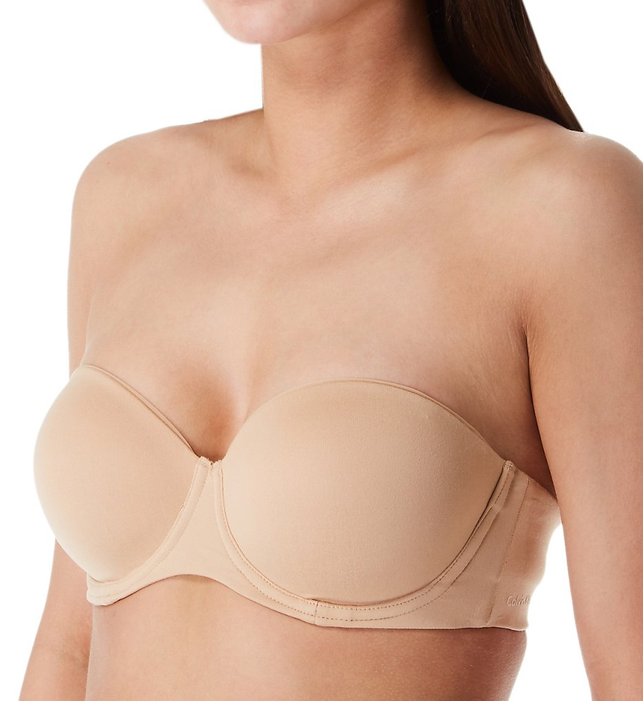 Calvin Klein QF5528 Constant Lightly Lined Strapless Bra (Bare)