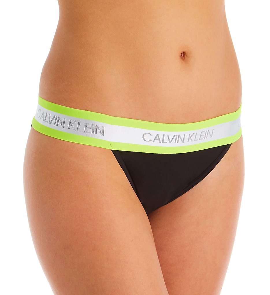 Calvin Klein >> Calvin Klein QF5571 Limited Edition High-Cut Bikini Panty (Black S)