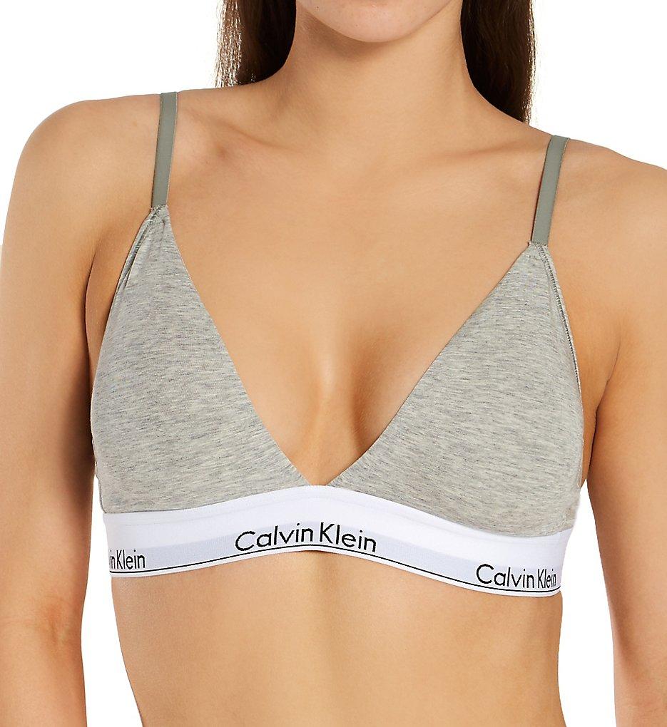 Calvin Klein - Calvin Klein QF5650 Modern Cotton Lightly Lined Bralette (Grey Heather XS)