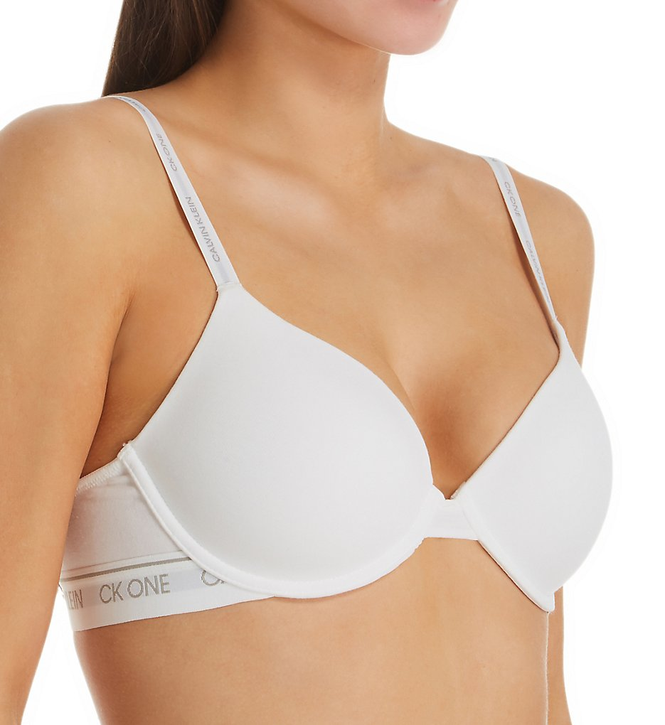 Calvin Klein - Calvin Klein QF5732 CK One Cotton Lightly Lined Demi Bra (White 34C)