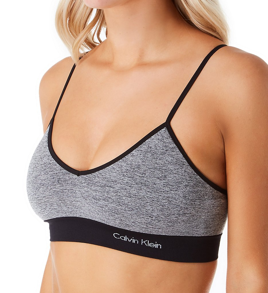 Calvin Klein - Calvin Klein QF6007 Solar Lightly Lined Bralette with Removable Pads (Marl Medium Grey L)