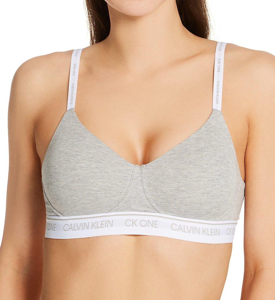 Calvin Klein - Calvin Klein QF6094 Lightly Lined Bralette (Grey Heather XS)
