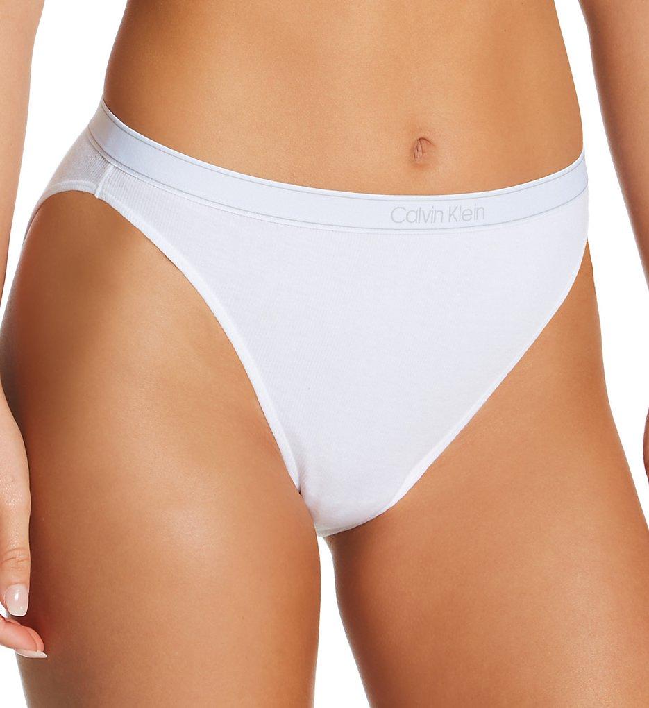 Calvin Klein - Calvin Klein QF6443 Pure Ribbed Cheeky Bikini Panty (White XS)