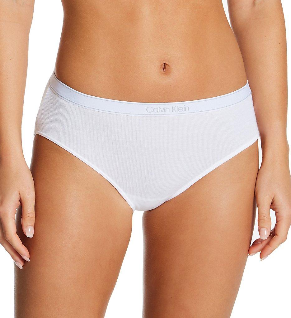 Calvin Klein - Calvin Klein QF6444 Pure Ribbed Hipster Panty (White XS)