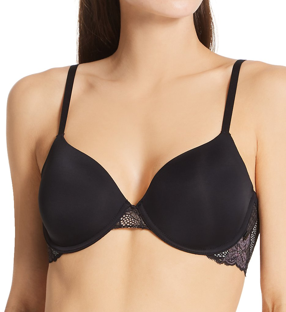 Calvin Klein - Calvin Klein QF6625 Perfectly Fit Lightly Lined Perfect Coverage Bra (Black 40DDD)