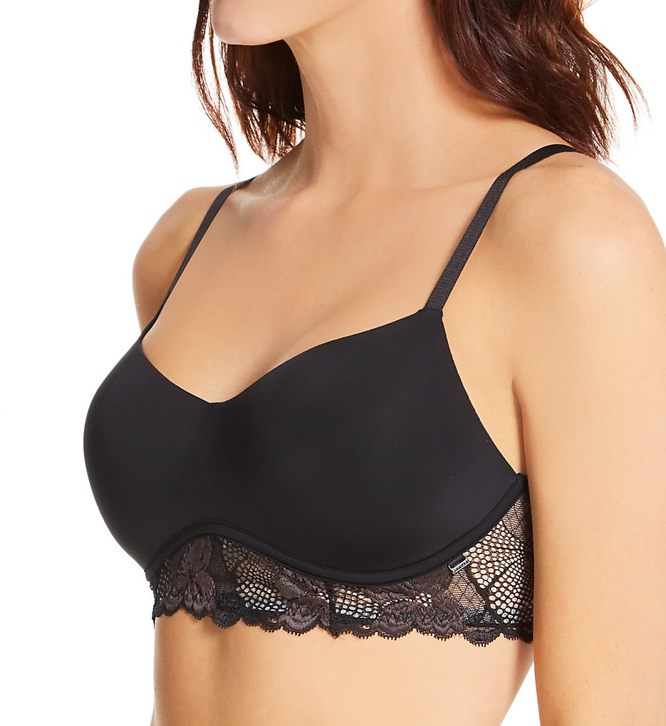 Calvin Klein - Calvin Klein QF6638 Perfectly Fit Flex Lightly Lined Bralette (Black XS)