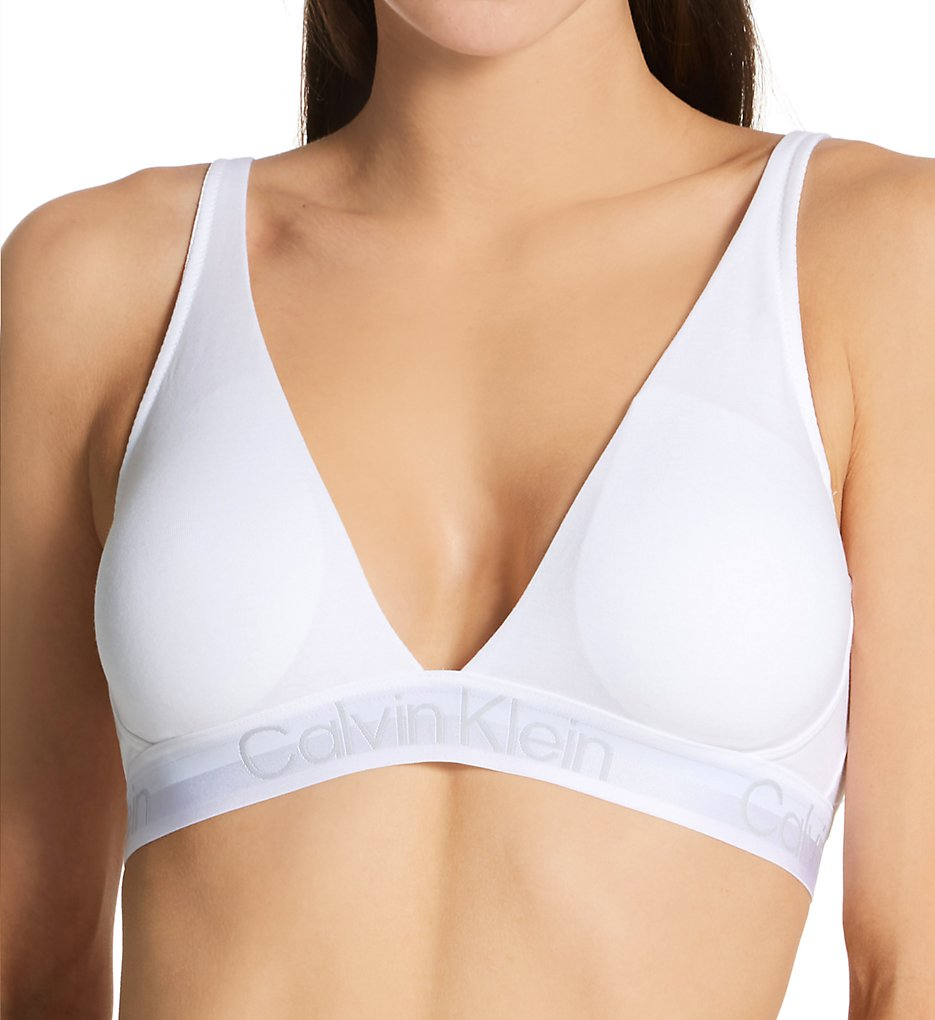 Calvin Klein - Calvin Klein QF6683 Modern Structure Lightly Lined Triangle Bralette (Classic White XS)