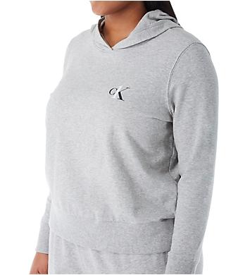 Calvin Klein CK One Basic Lounge Plus Size Long Sleeve Hoodie