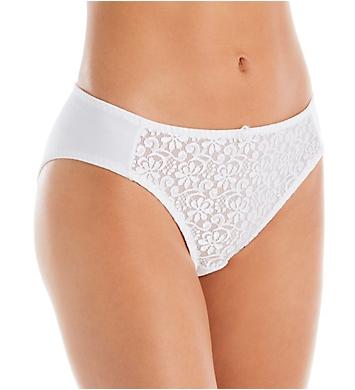 Carnival Tuxedo Lace Microfiber Low Rise Bikini Panty