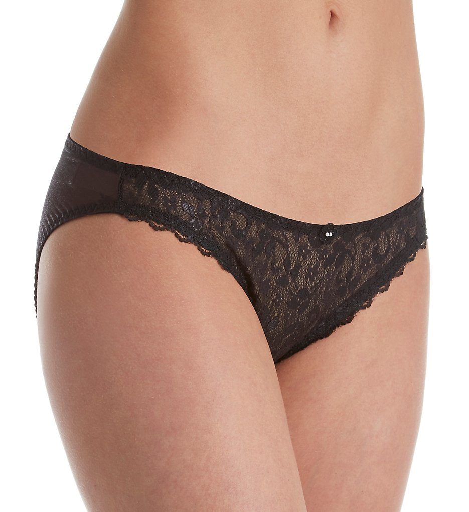 Carnival - Carnival 4133 Lace High Cut Bikini Panty (Black M)