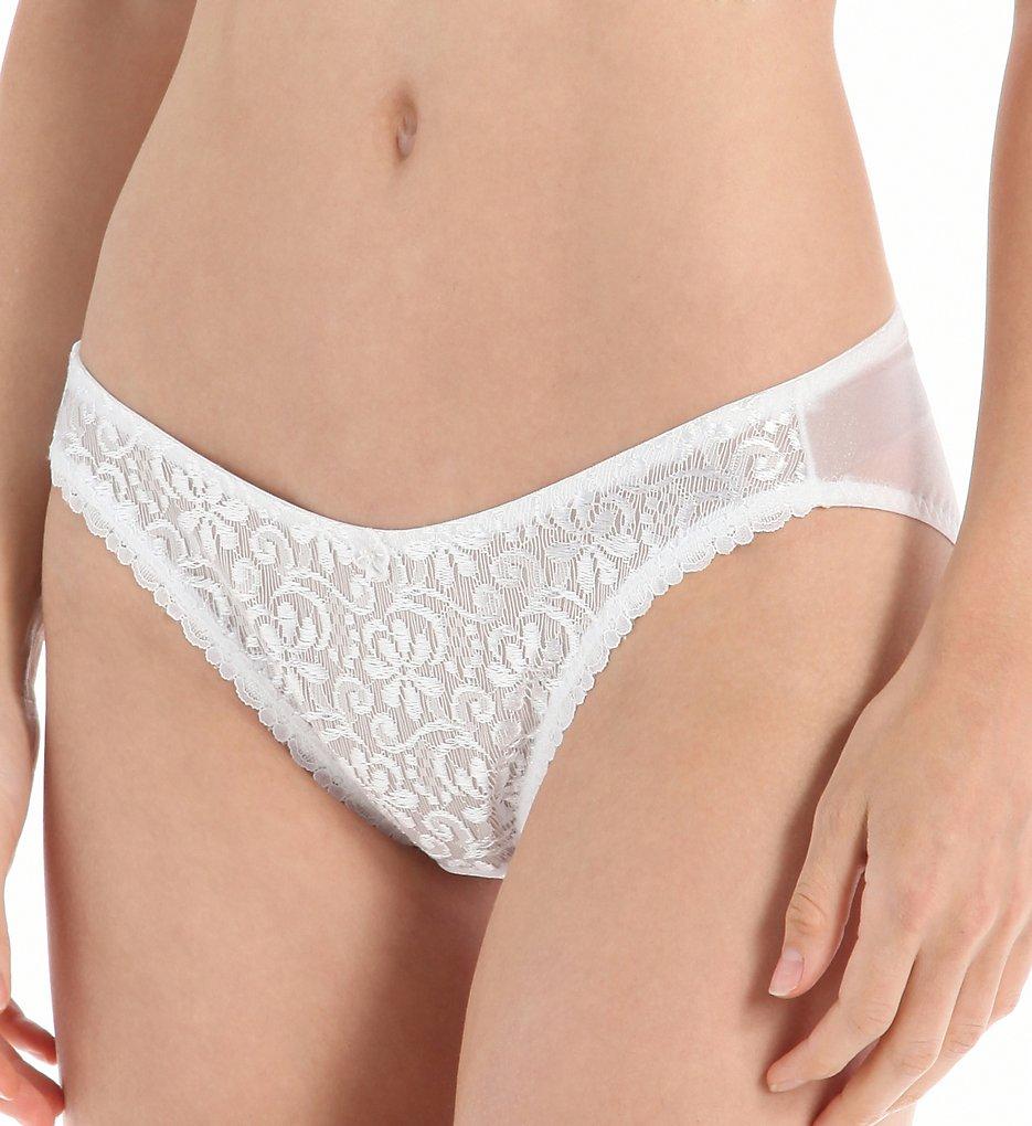 Carnival - Carnival 4137 French Cut Tuxedo Bikini Panty (White S)